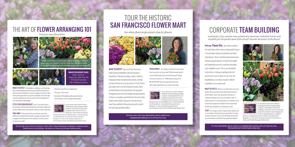 Mindy Rosenberg design Tour the san francisco Flower Mart Graphic design logo design