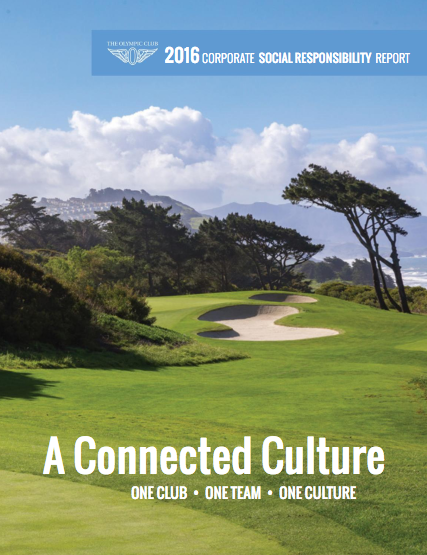 The Olympic Club Social Responsibility Report Graphic Design Art Direction