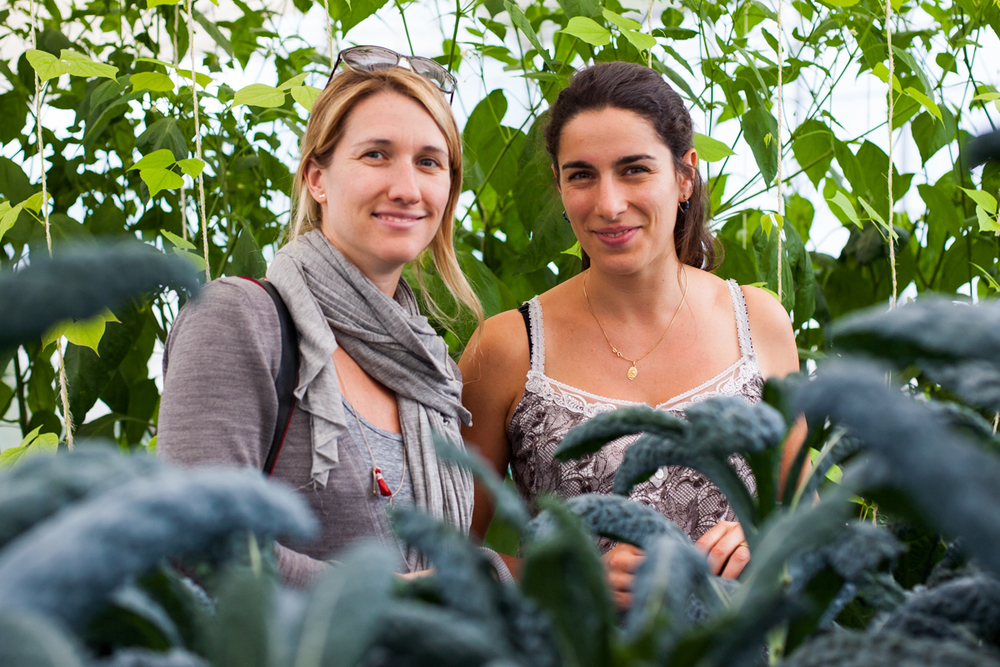 Kristen Beddard with French Farmer Marion Sourdois