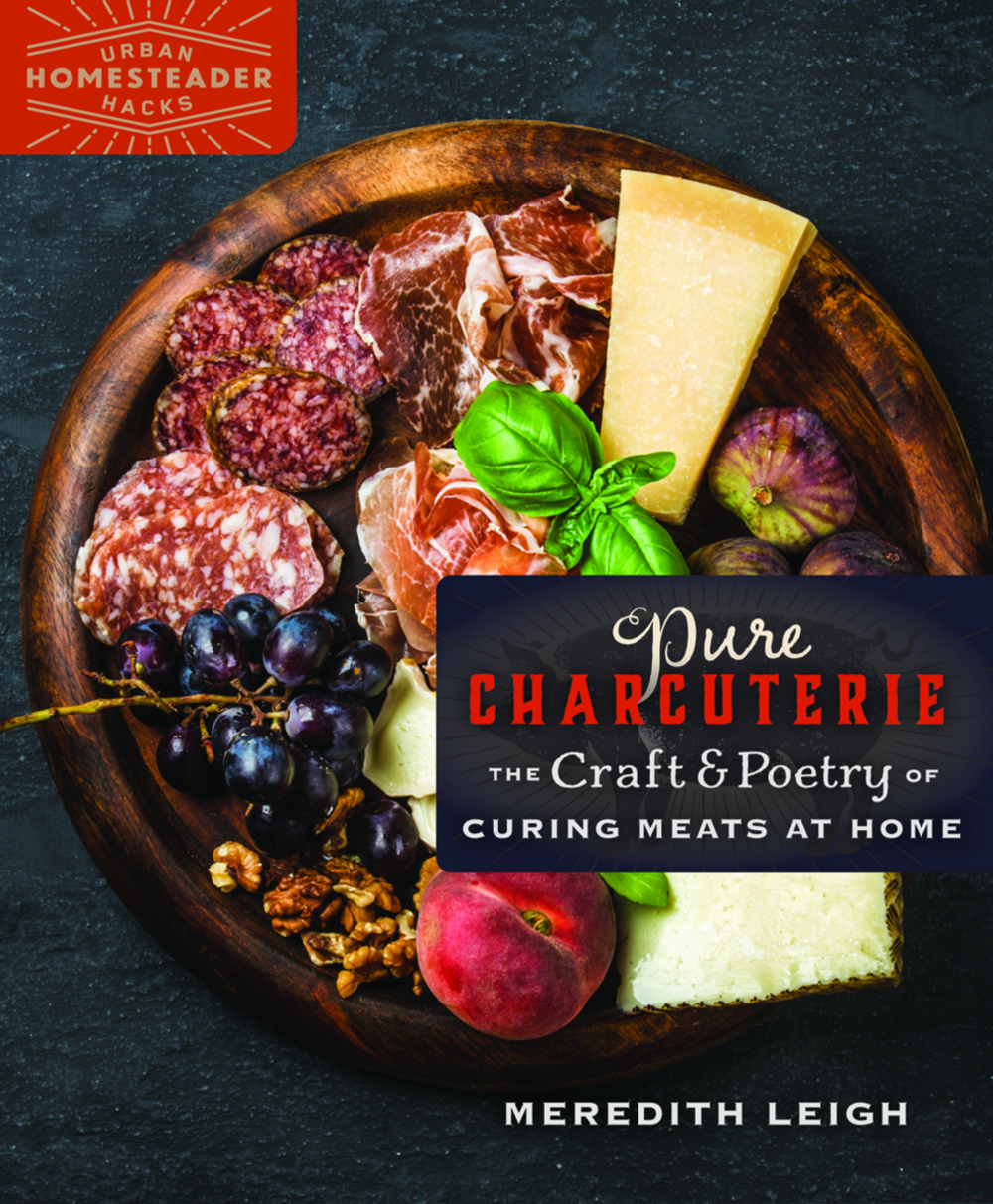 Meredith Leigh - farmer, butcher, charcuterie artist, and writer  Create beautiful cured meats in your own kitchen, revel in the delicious combination of craft and thrift, and discover creativity and empowerment through charcuterie practice. This book makes a case for meat preservation not only as a means of artistic expression and flavorful eating, but also as a form of activism. Includes delicious recipes that are reverent to tradition but evolved, reflecting culinary inventiveness. Color photo tutorials.   http://www.mereleighfood.com/books-1/