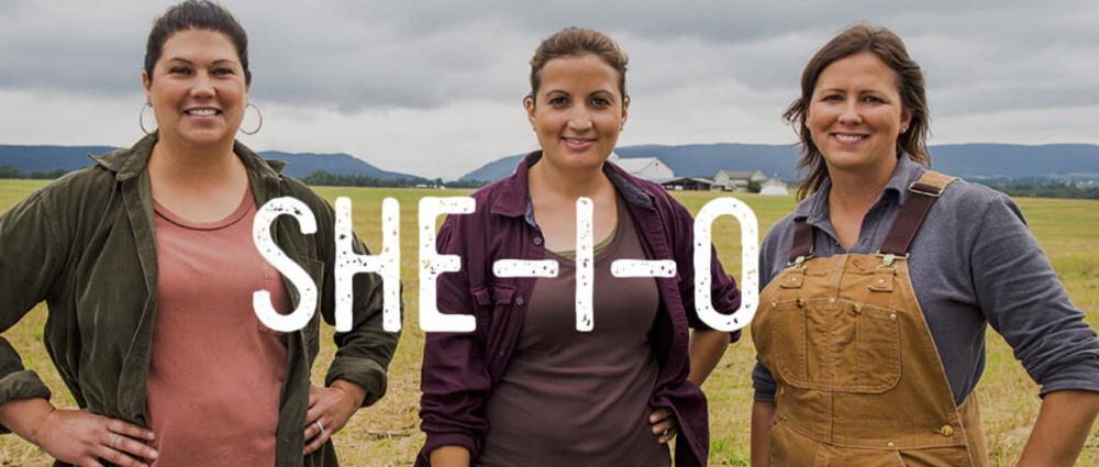 Amanda, Lori and Candice on the family dairy farm