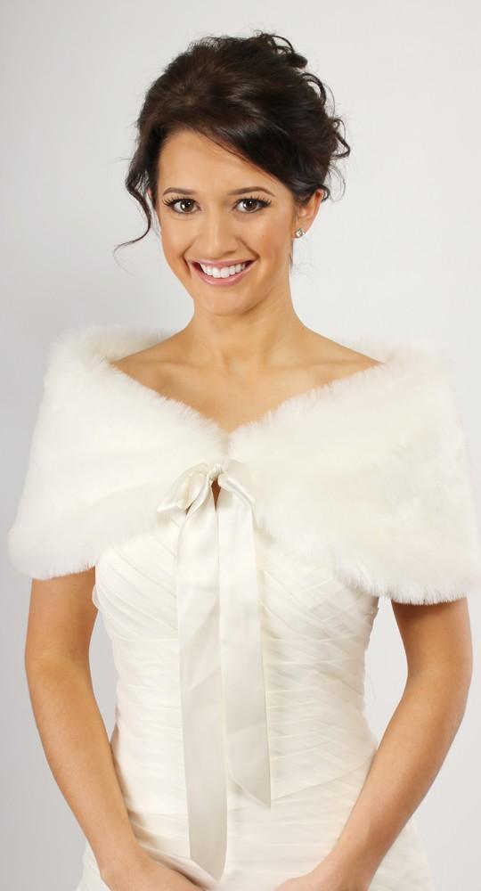 Bridal fur wrap with ribbon SH11-5.jpg