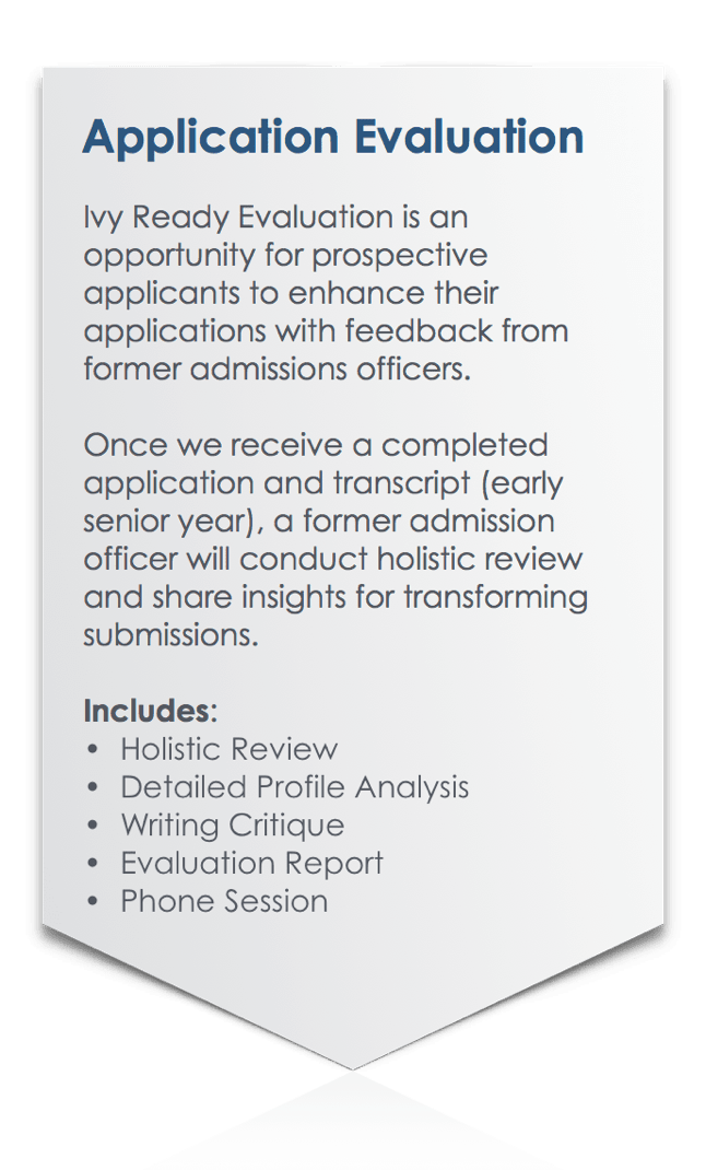 Ivy Ready Application Evaluation