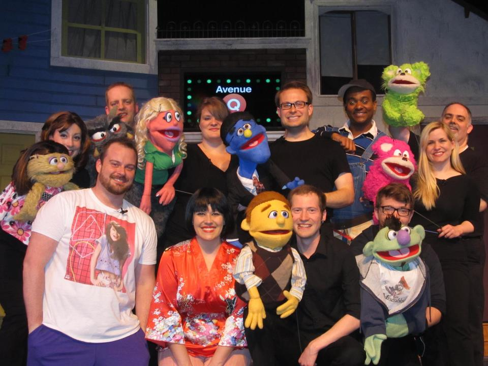 The Avenue Q cast.