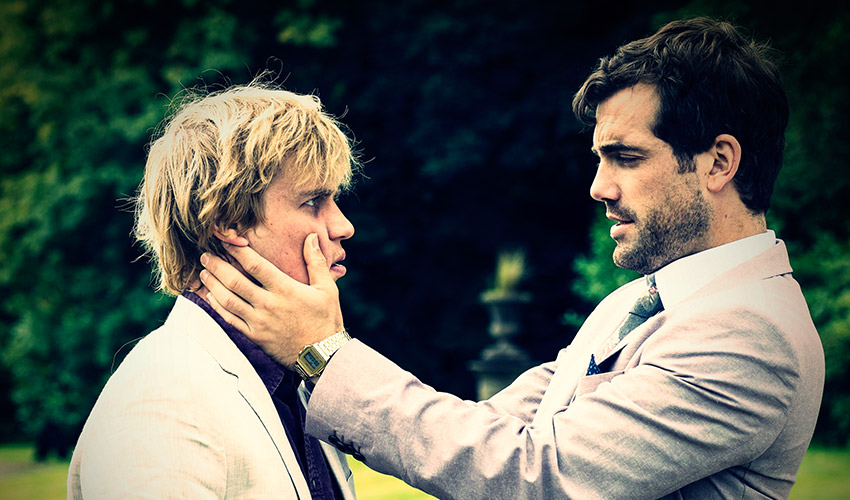 Johnny Flynn and Daniel Ings in Scrotal Recall