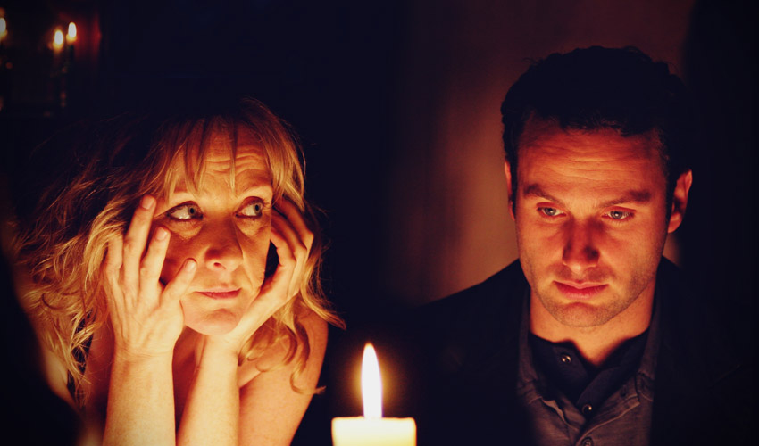 Andrew Lincoln and Lesley Sharpe in Afterlife