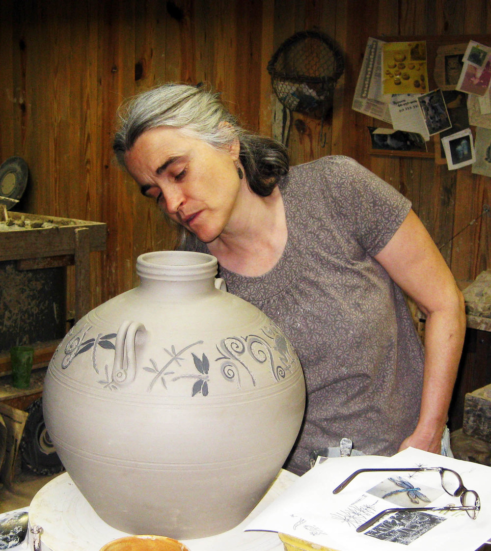 Pam Decorating a Jar.jpg