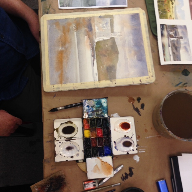 Day 2: Iain Stewart demonstration and paint palette