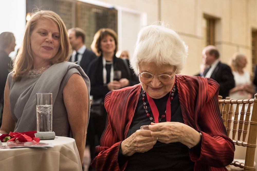 Denise Scott Brown, studying her 2016 AIA Gold Medal