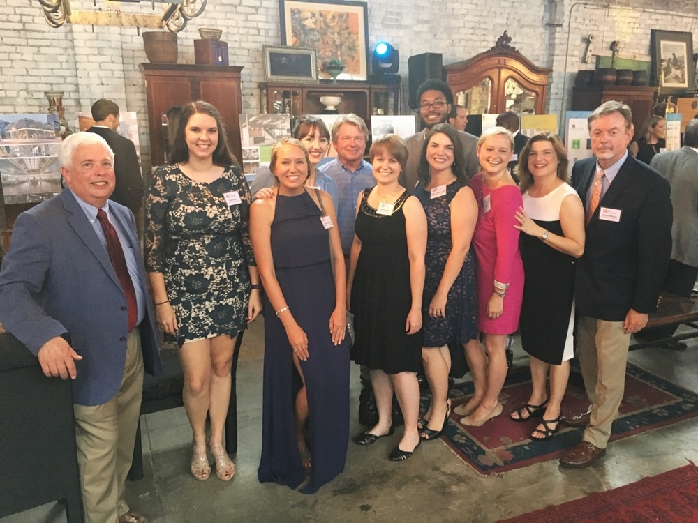 BPA Family at the Design Awards: (L-R) Tom Kidwell, Kelsie Perry, Marlee Caldwell, Allison Vosicky, Chuck Penuel, Kim Edwards, Alicia Pughsley, Charlie Abram, Laura Yeatman, Amy Estock, Wallace Williams