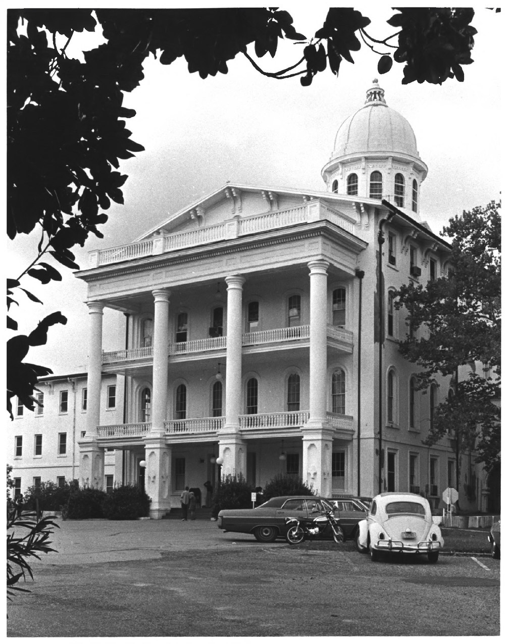 1970s photo of Main Building approach. Photo from National Park Service.