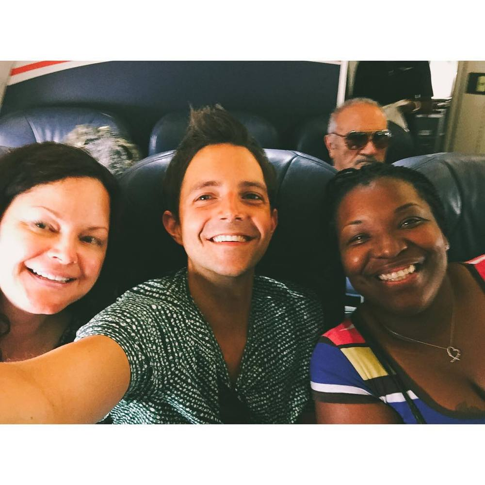 I didn't get to sit next to Andrea on our first flight yesterday, but I made some great new friends.  Pray for Glinda the baggage handler from Seattle and Lisa the Neurologist from Atlanta.  On the second flight, I got to have an amazing conversation with Mike, the pilot from Portland.  He was so real about his faith journey.