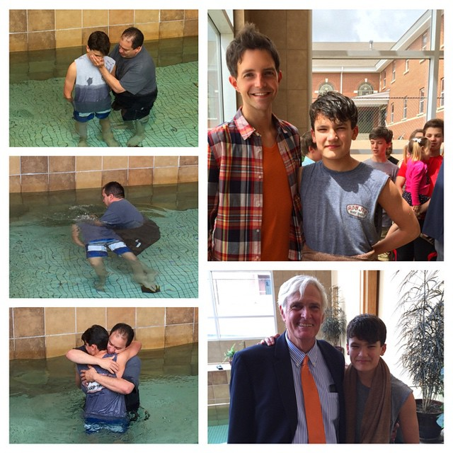 So fun getting to celebrate Dougie's baptism today!  He gave his life to Christ a couple of weeks ago in his small group.  Today, his dad got to dunk him!  Love seeing God raise people to new life in Christ.
