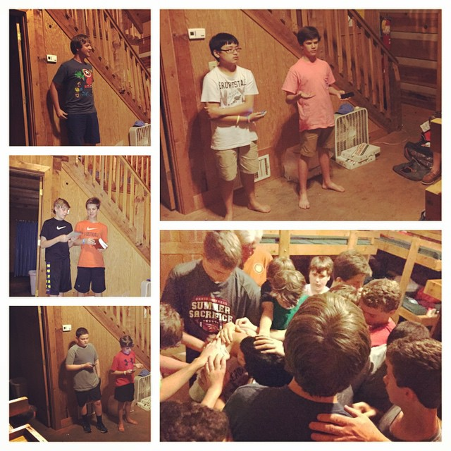The world should get excited about the young men BPBC is launching into its midst.      These middle school guys are world changers - and it's a mantle they are ready to wear.  Here they are praying for each other, and teaching each other mini sermons from God's Word.  I've really never seen anything like it, and I couldn't be more filled with hope!