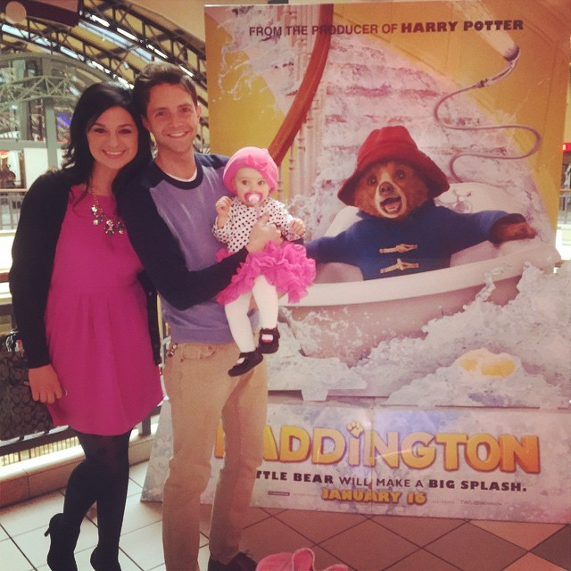 Baby's First Movie was a hit! #valentinealise Valentine loved Paddington. She talked and laughed for 10 minutes, squirmed for two minutes, watched with me from the hall for 5 minutes, and sleep-watched the rest in total peace.
