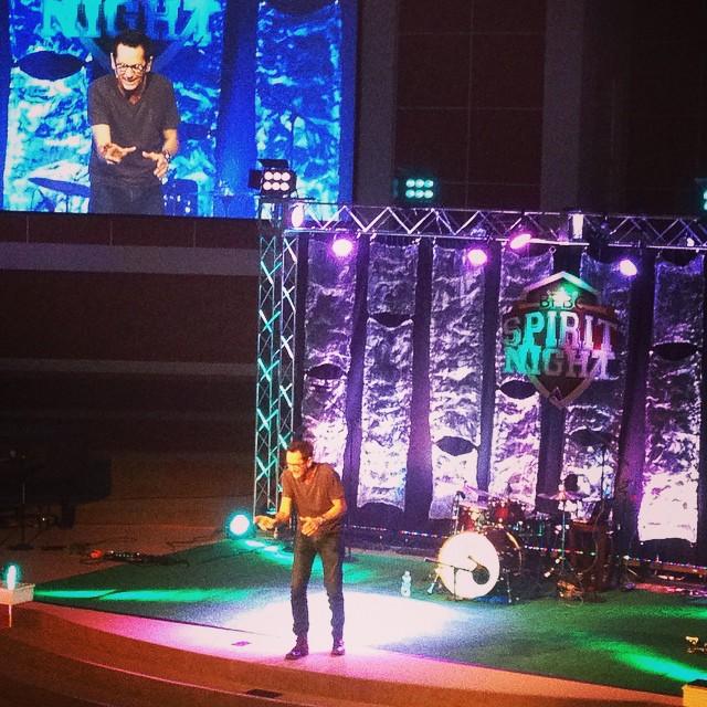 @tonynolanlive bringing the WORD at #spiritnight14