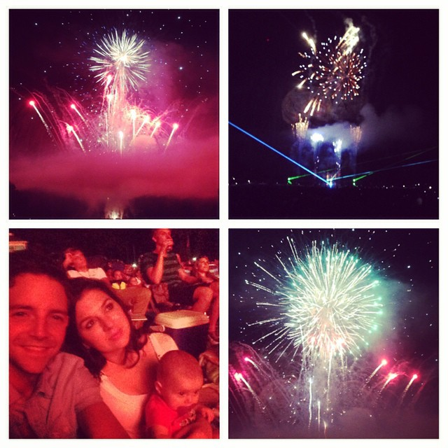 Baby's first fireworks at Stone Mountain #valentinealise