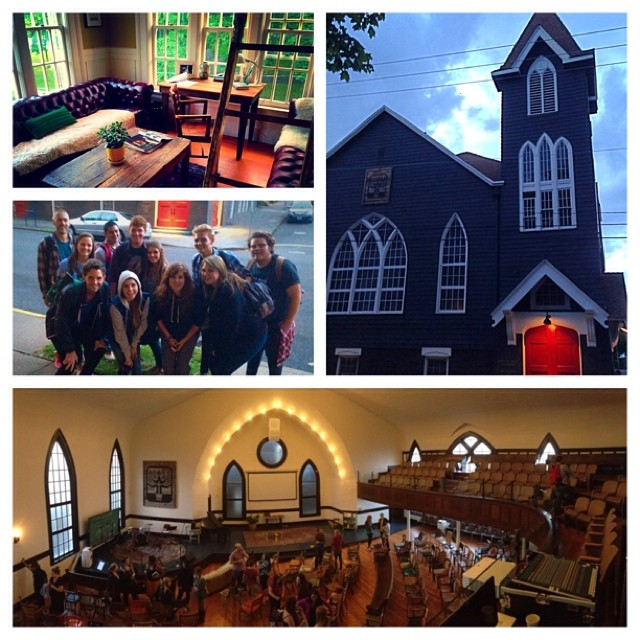 Amazing (first full) Day!  Morning training, 54 one-on-one Gospel conversations, AND we finally got to go inside the gorgeous Door of Hope Church building.  #pdx14