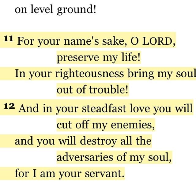 Psalm 143