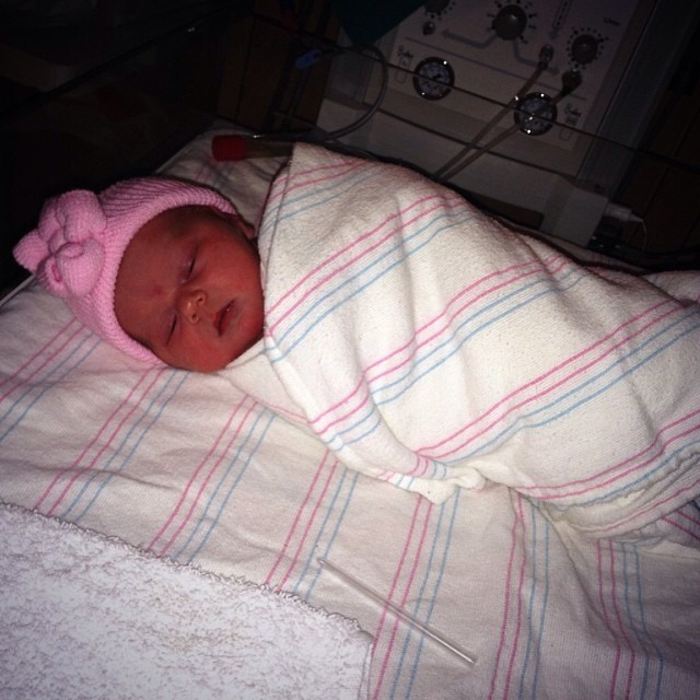 "Valentine Alise Bennett  5:36 pm  8lbs 1oz  21 ¼""    Mommy & baby are healthy and perfect."