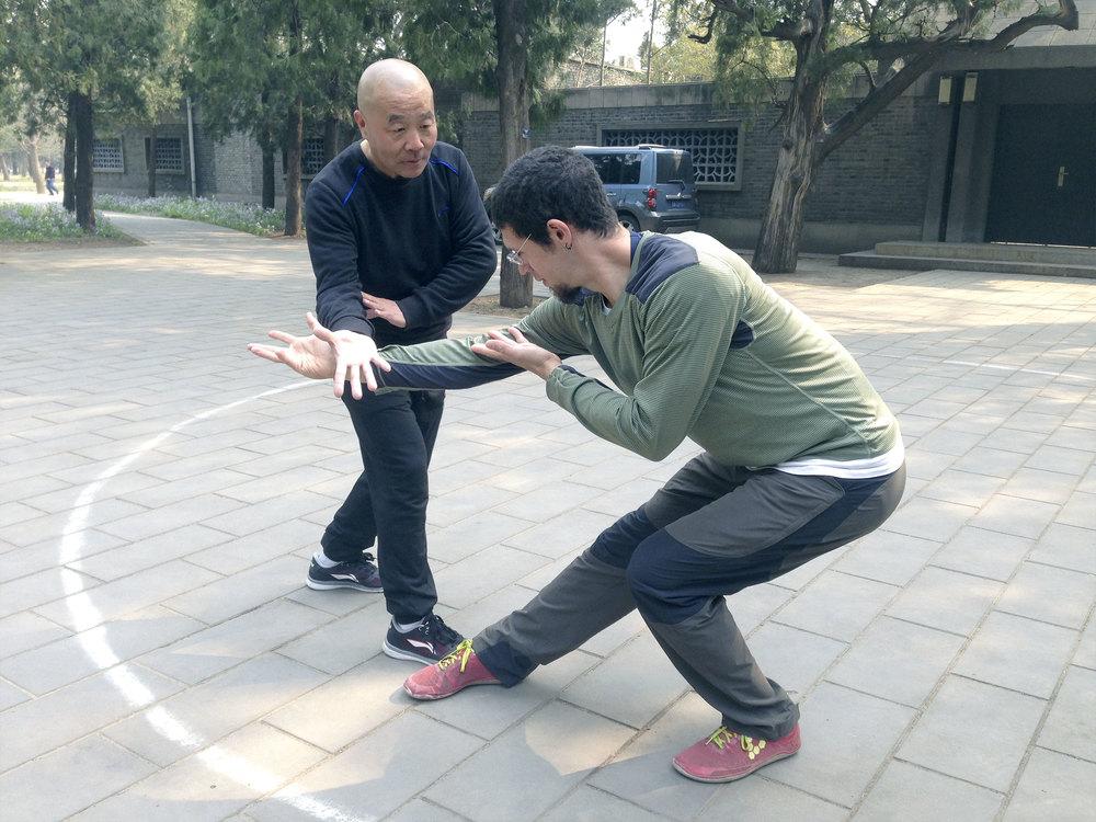 Josef Haber  studying Baguazhang in China.