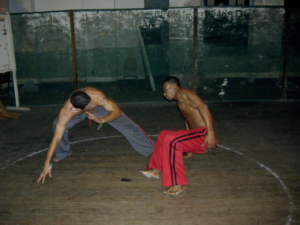 Josef Haber  learning Capoeira in Brazil, 2006.
