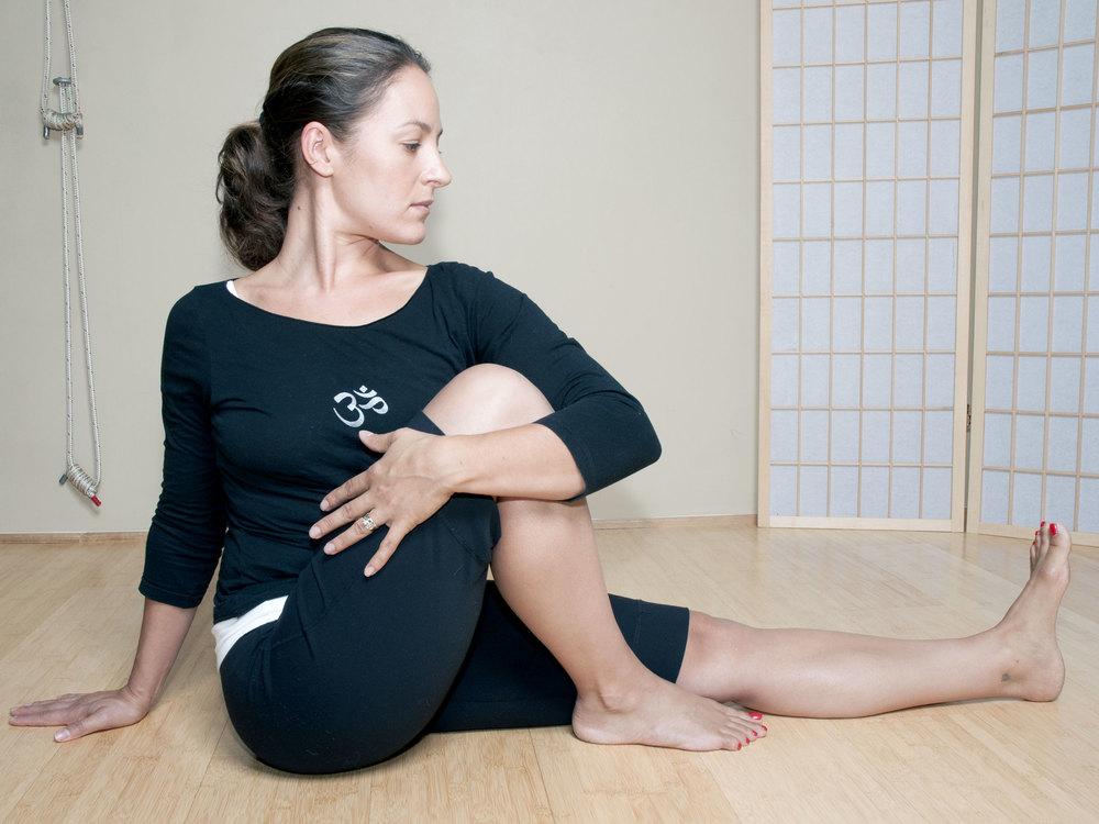 Half Spinal Twist Asana