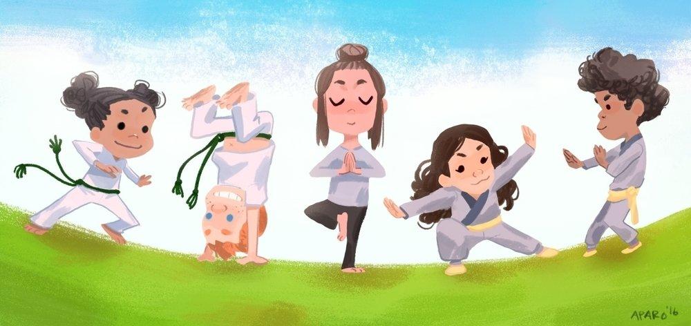 Kid's Capoeira, Yoga, Kung Fu