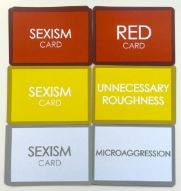 Front /back of sexism cards