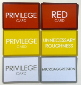 Front/back of privilege cards