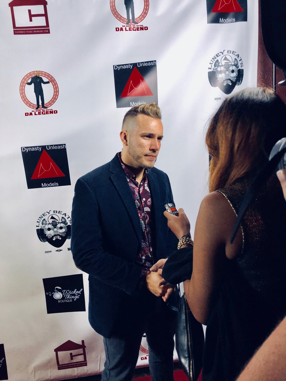 Here we see Lucas Lockwood being interviewed by People's World, sharing the importance of voicing injustice and standing up for those that can't speak up for themselves.   https://www.peoplesworld.org/article/fashion-label-puts-domestic-violence-center-stage-at-naacp-image-awards/