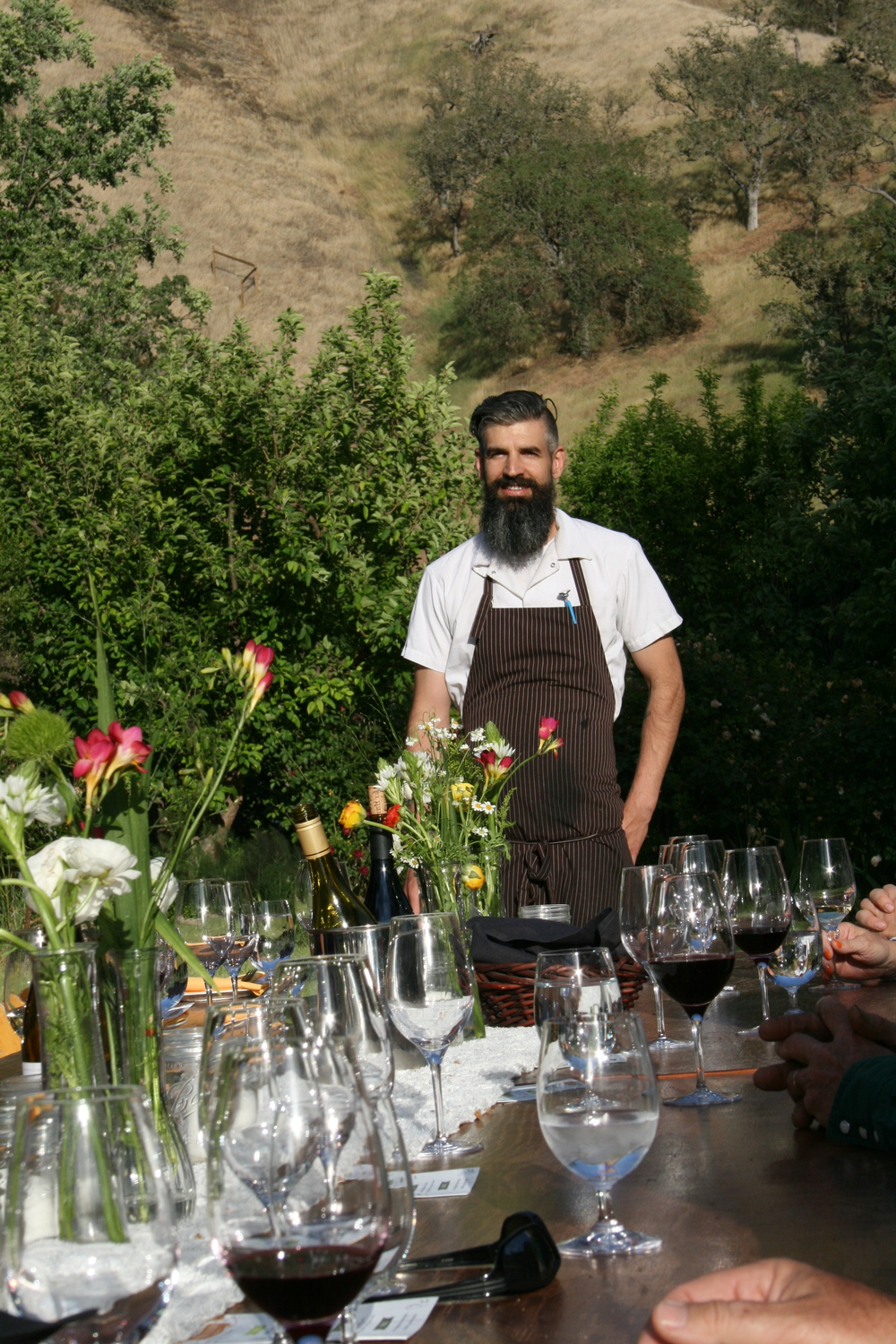 During Thomas Hill Organics' first Table to Farm Dinner held in late April, Executive Chef Tim Veatch worked with the spring bounty provided by Windrose Farm in Paso Robles.   Photos and words by Hayley Thomas