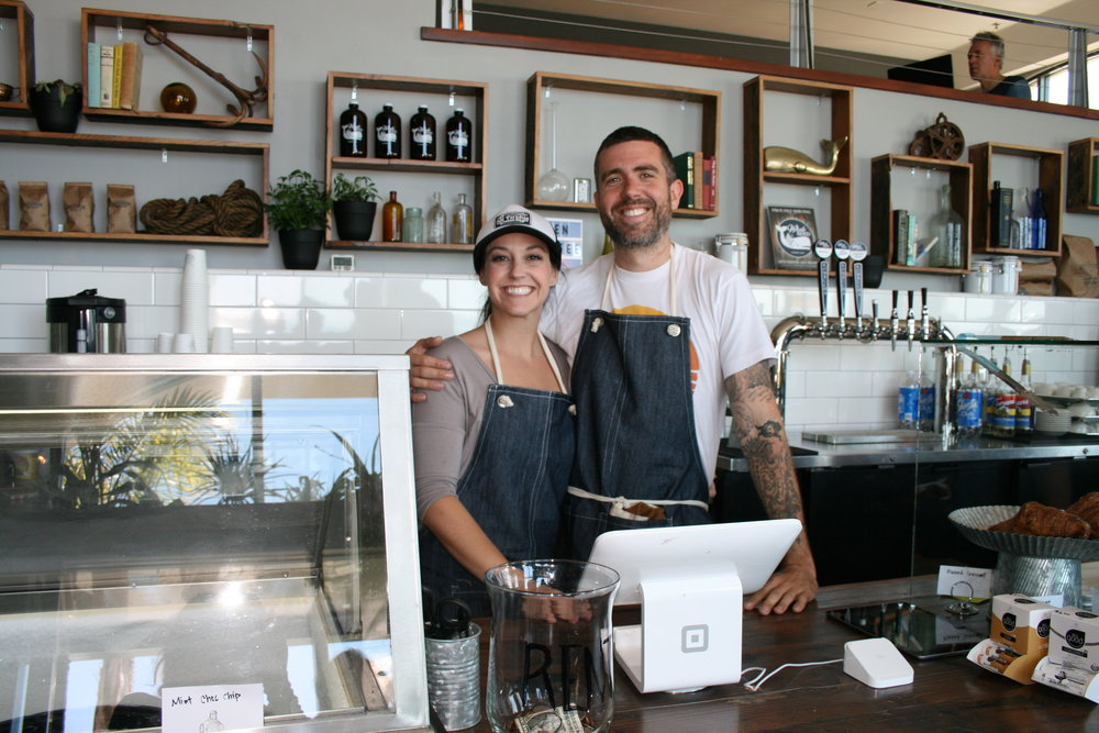 "DEEP DIVE     Corinn ""Rinney"" Gallo and James Whitaker are at the helm of a new locals' hangout on Front Street in Avila Beach.    PHOTO BY HAYLEY THOMAS CAIN"