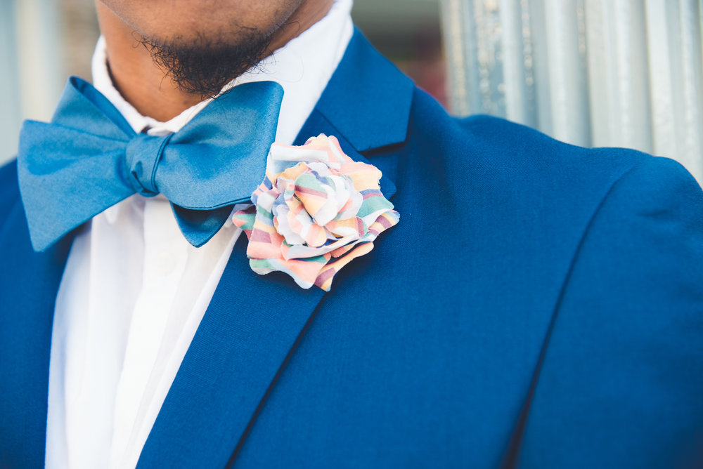 Port of Savannah Bow Tie and Port of Spain Lapel Flower