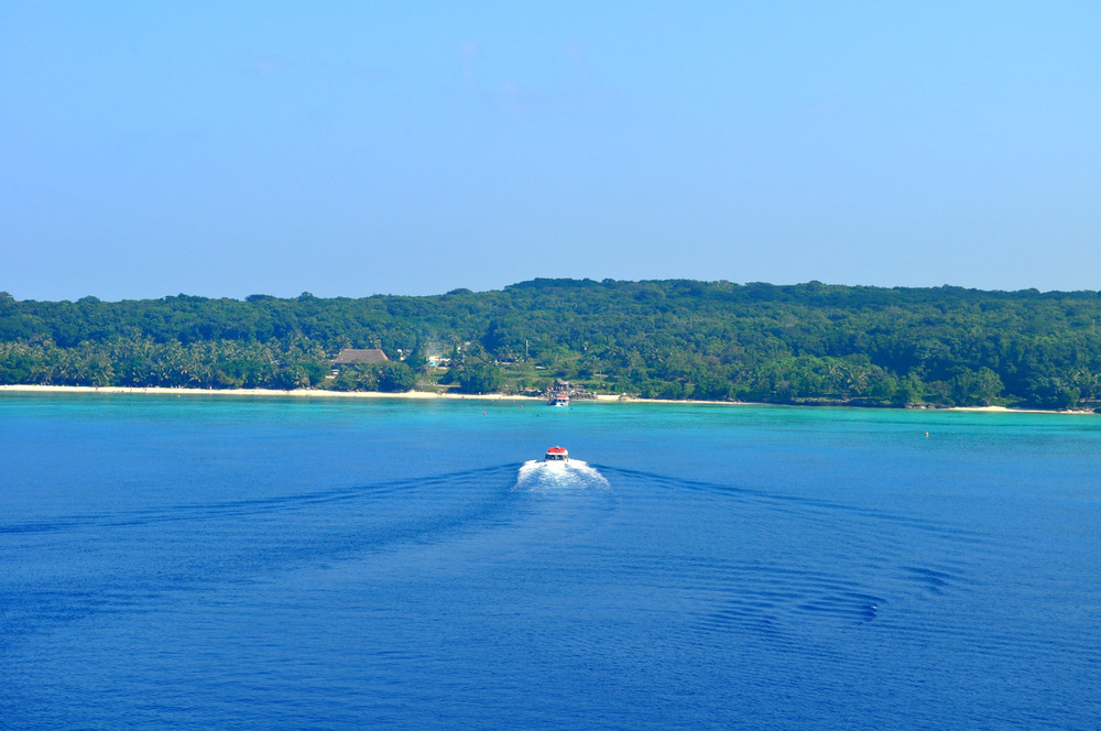 The little boat that takes you to Lifou.