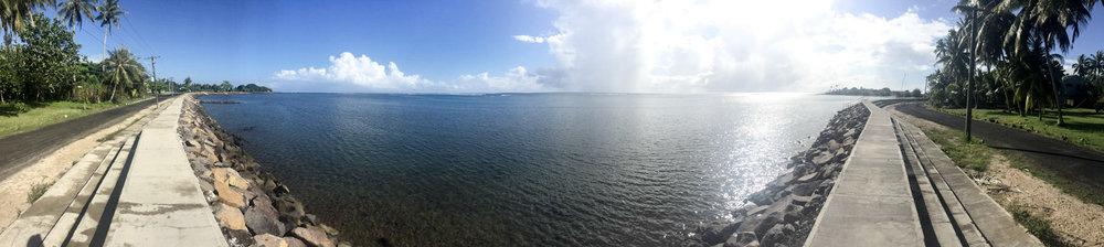 The Seawall in Apia.
