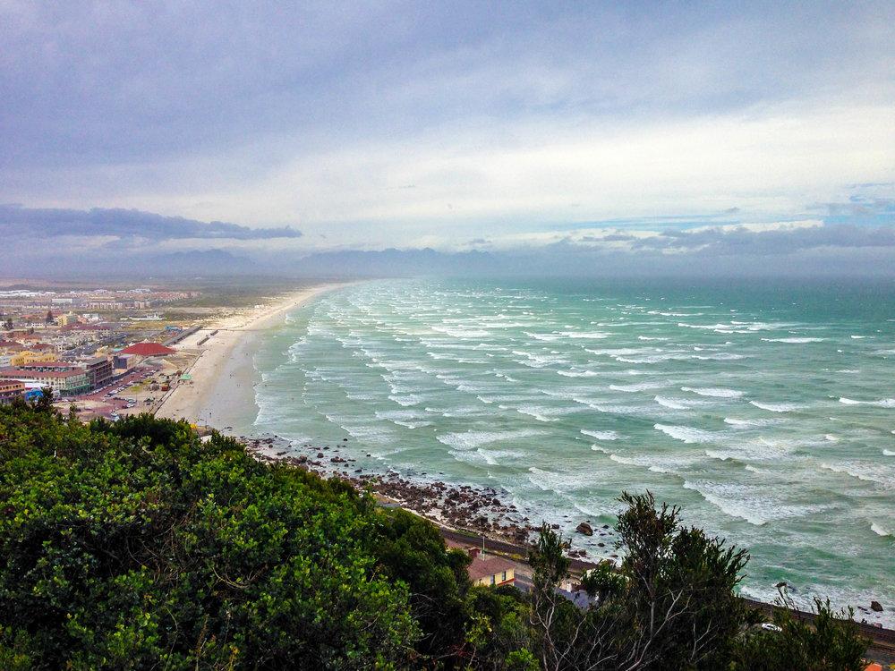 Overlooking Muizenberg beach.