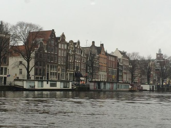 View of Amsterdam from the boat