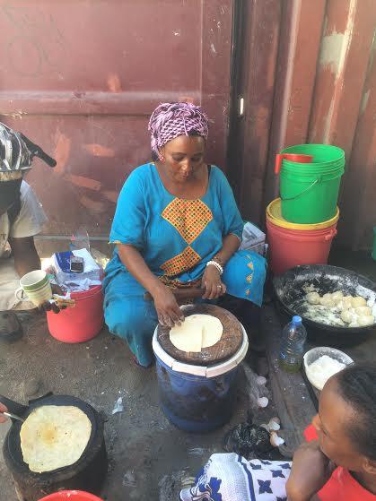 Mama Amina making chapati