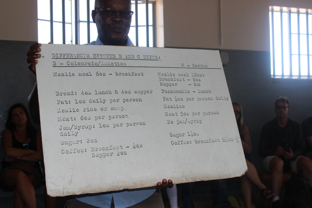 They tried to turn prisoners against each other by feeding them different meals based on their race.