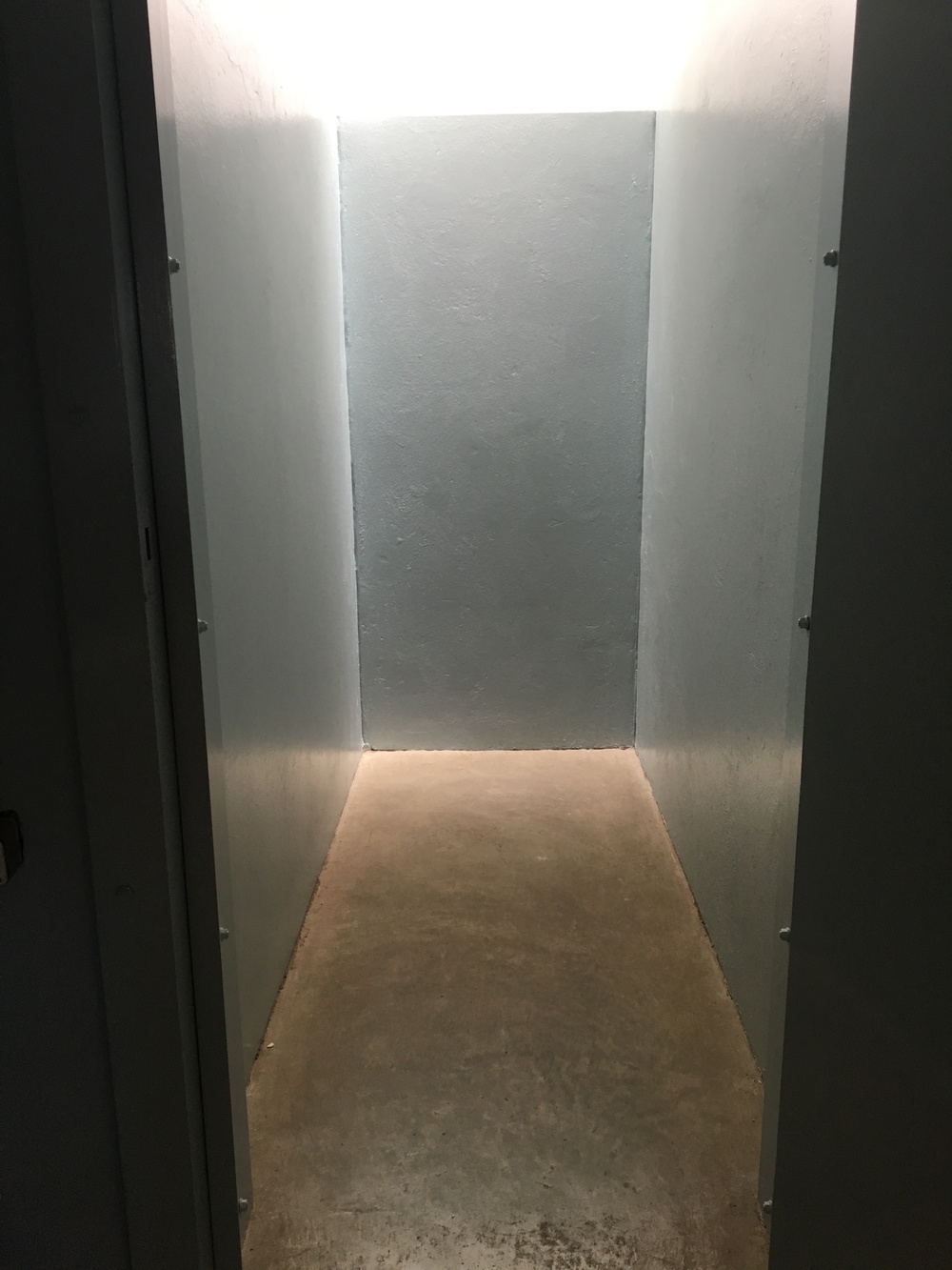 Typical size of a cell used for solitary confinement