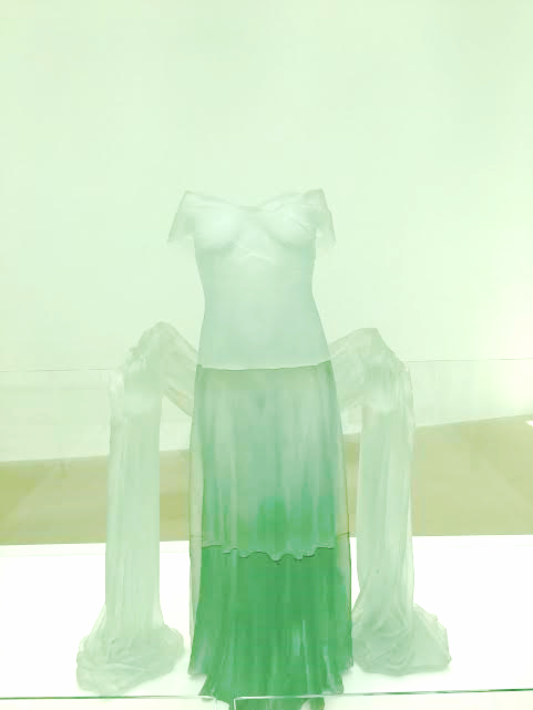 Dress made of glass