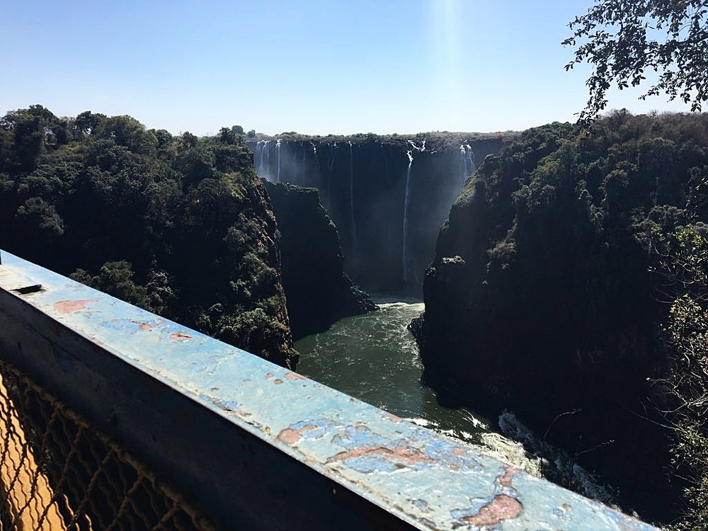 View from the Victoria Falls Bridge