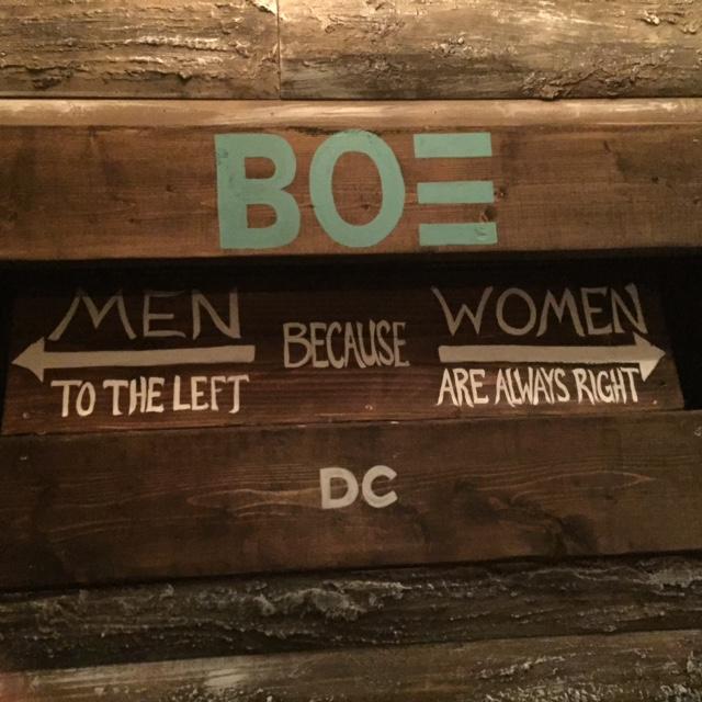 BOE Bathroom Sign/Photo Credit: Nyasha Chikowore