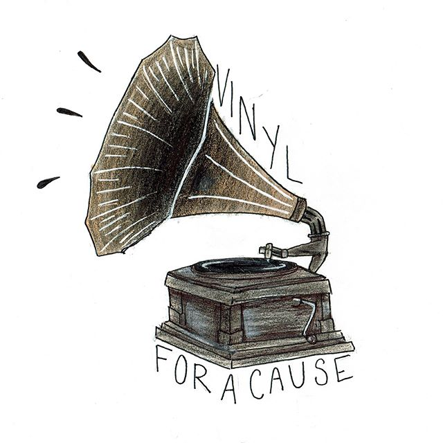 "Wow did we have some amazing entries in our Vinyl For A Cause T-Shirt Design Competition!  We are proud to announce that Ella Peresie has won the t-shirt design contest. Her t-shirt design is now in our web-store and available for pre-order here: https://fix8media-viceversa.squarespace.com/…/vinyl-for-a-c…. We absolutely love the throwback vibe from this design and can't wait to see it printed on a t-shirt. (We can't believe she's only 12 and drew this!). You can follow her art-work here - @ellasue.art  Our runner-up, (and one of our favorite artists of all time), Matthew Reid also did an incredible design that we love. We decided we have to print this as well in a limited edition batch of 10 t-shirts. It's going to be digitally edited and colored and once that's done, it will also be posted in our web-store for pre-order. Keep your eyes peeled next week because we will also be doing an autographed give-a-way with Matthew's fantastic book, ""Mihn."" Read more about this beautiful work of art here: http://howstrangelywearemade.com and make sure to follow Matthew here: @notmatthewreid - He truly rocks!  You can find all of the t-shirt design contest entries here: https://fix8media-viceversa.squarespace.com/…/t-shirtdesign…. Thank you to everyone that entered and for your support of VFAC.  #VinylForACause #PromotingGood #Records #Art #VFAC #TshirtDesign #Tshirt #ChicagoMusic #Chicago #Contest #Winner #EllaPeresie #Mihn #MatthewReid"