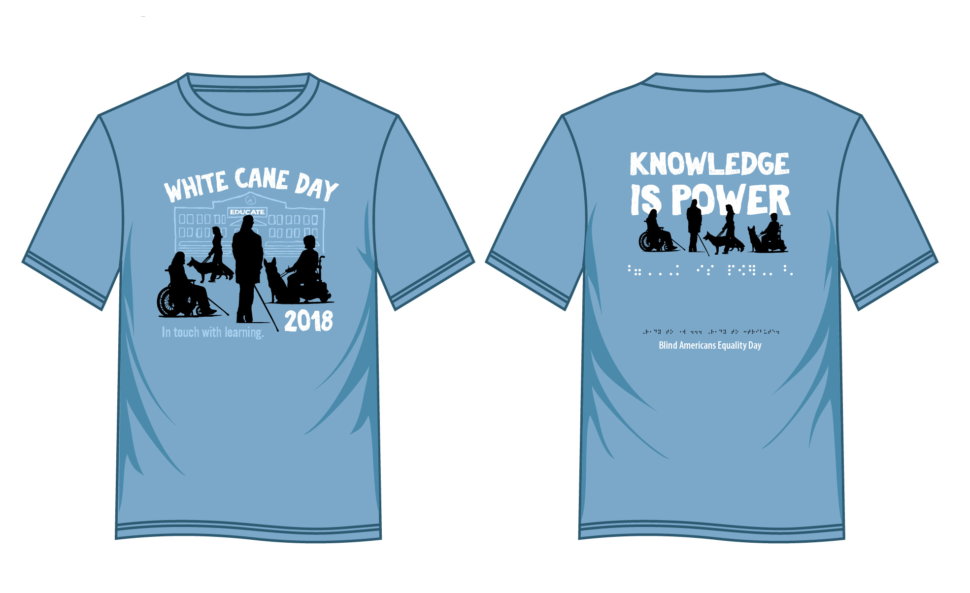 2018 White Cane Day T-shirt