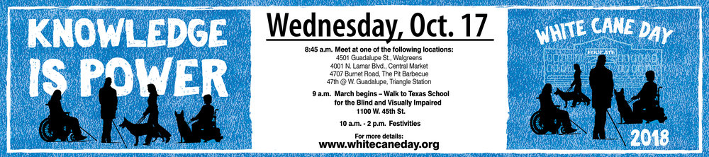 White Cane Day Banner (information below)