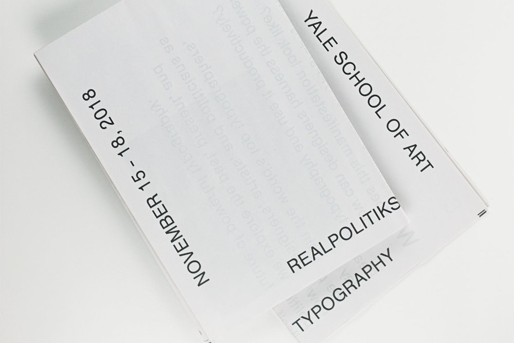 REALPOLITIKS TYPOGRAPHIC CONFERENCES