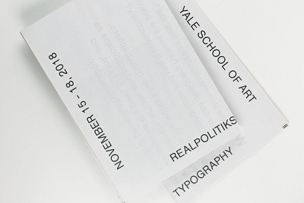 REALPOLITIKS TYPOGRAPHIC CONFERENCES