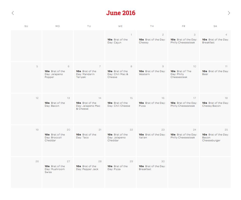 Brat of the Day Calendar